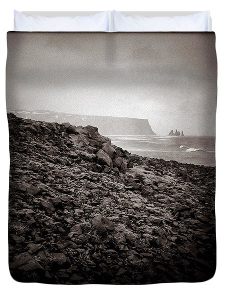 Distant Stacks Duvet Cover by Dave Bowman