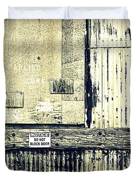 Do Not Block Door Duvet Cover by Valentino Visentini