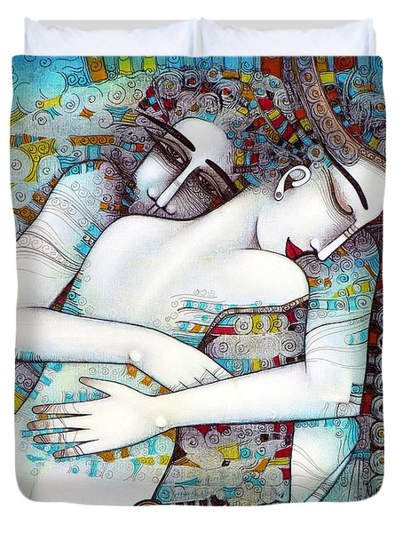 do not leave me Duvet Cover by Albena Vatcheva