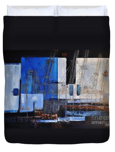 Dock 35 Duvet Cover by Sallie-Anne Swift