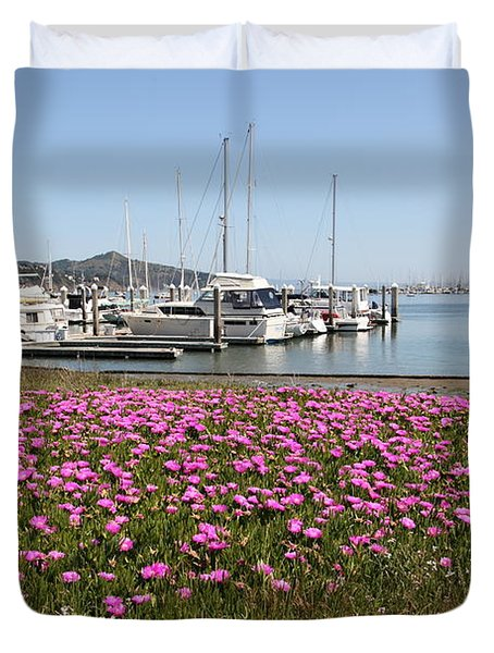 Docks At Sausalito California 5d22695 Duvet Cover by Wingsdomain Art and Photography