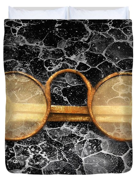 Doctor - Optometrist - Glasses sold here  Duvet Cover by Mike Savad