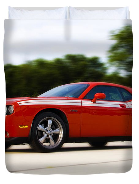 Dodge Challenger Duvet Cover by Bill Cannon
