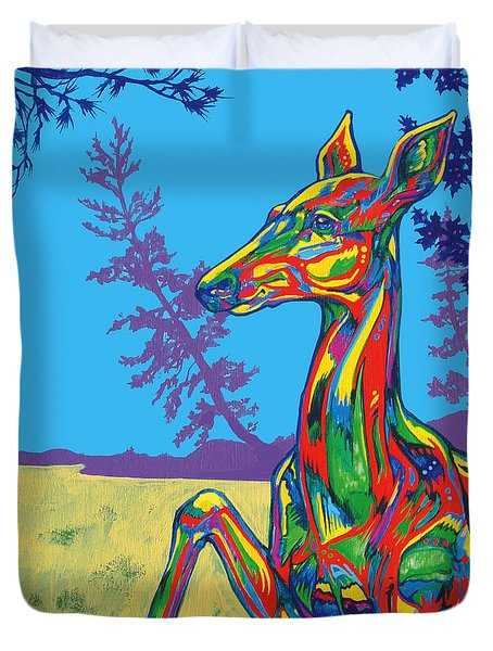 Doe Duvet Cover by Derrick Higgins
