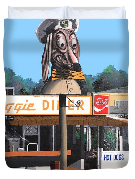 Doggie Diner 1986 Duvet Cover by Wingsdomain Art and Photography