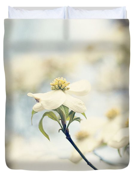 Dogwood No 1 Duvet Cover by Erin Johnson
