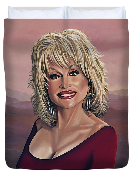 Dolly Parton 2 Duvet Cover by Paul  Meijering