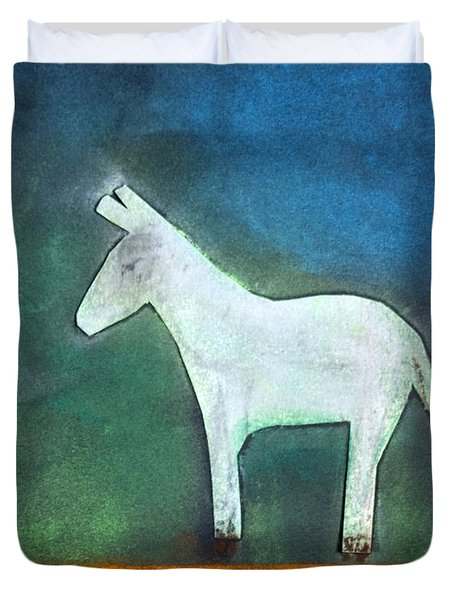 Donkey, 2011 Oil On Canvas Duvet Cover by Roya Salari