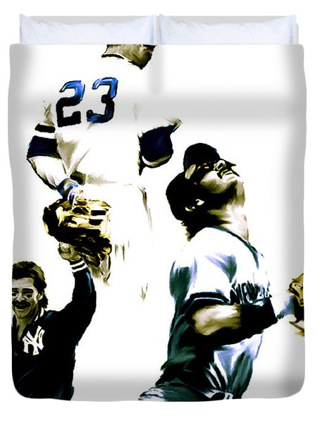 Donnie Baseball  Don Mattingly Duvet Cover by Iconic Images Art Gallery David Pucciarelli