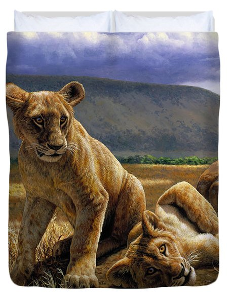 Double Trouble Duvet Cover by Crista Forest