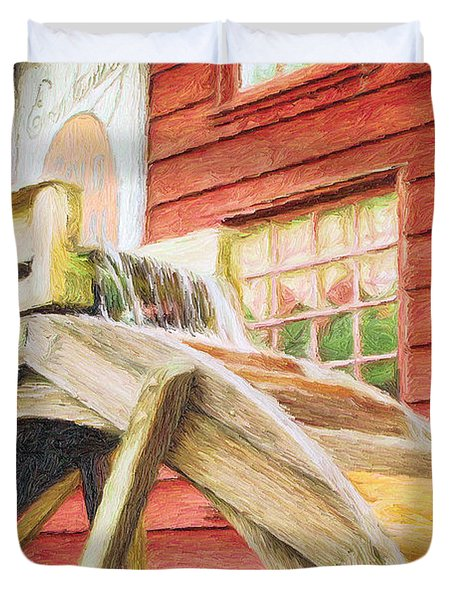 Down by the Old Mill Duvet Cover by Jeff Kolker