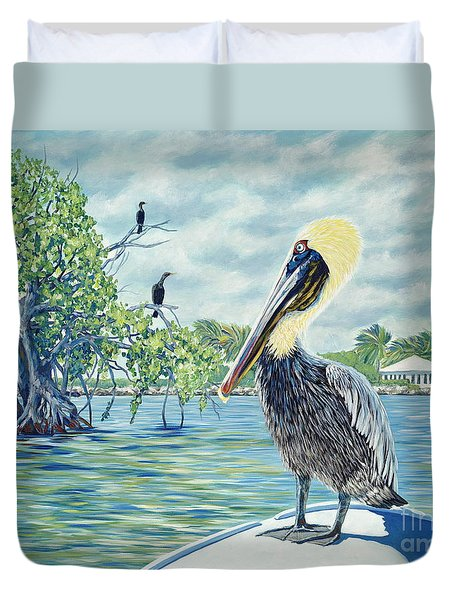 Down In The Keys Duvet Cover by Danielle  Perry