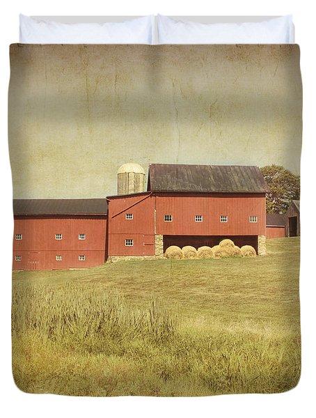 Down on the Farm Duvet Cover by Kim Hojnacki