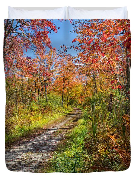 Down The Autumn Road Duvet Cover by Bill  Wakeley