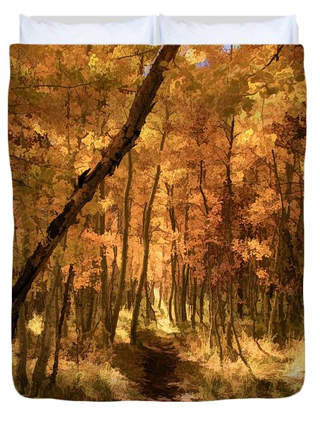 Down the Golden Path Duvet Cover by Donna Kennedy