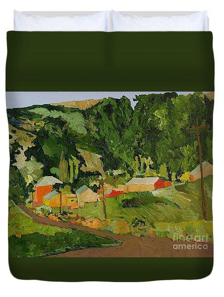 Down The Road Duvet Cover by Allan P Friedlander