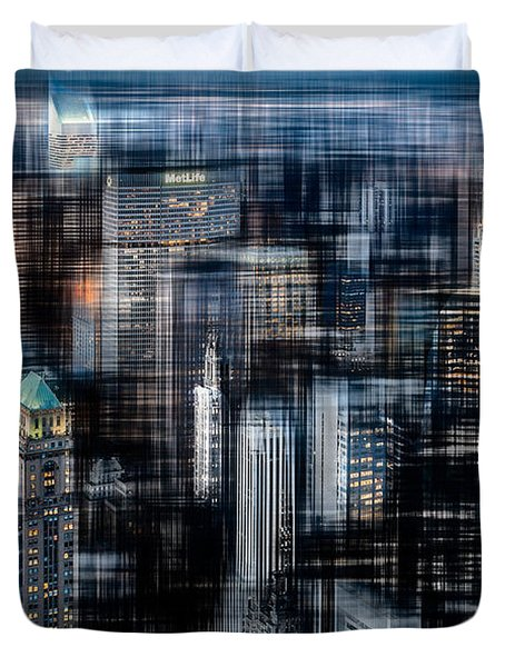 Downtown At Night Duvet Cover by Hannes Cmarits