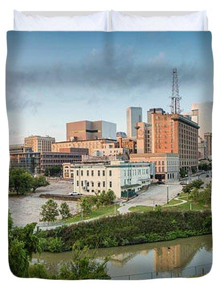 Downtown Houston from UH-D. September Duvet Cover by Silvio Ligutti