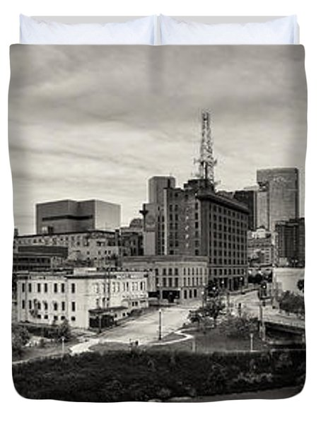 Downtown Houston from UH-D Duvet Cover by Silvio Ligutti