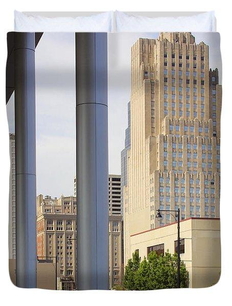Downtown Kansas City Duvet Cover by Mike McGlothlen