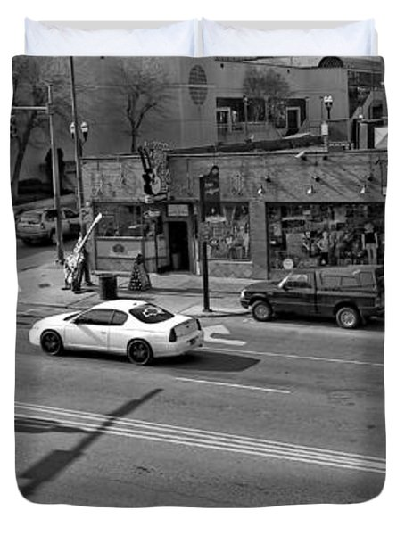 Downtown Nashville Legends Corner Duvet Cover by Dan Sproul