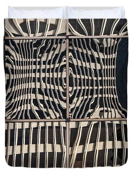 Downtown Reflection Duvet Cover by Kate Brown