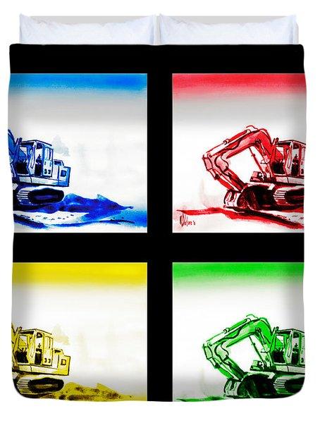 Dozer Mania Iv Duvet Cover by Kip DeVore
