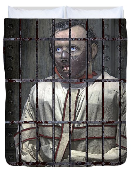 Dr. Lecter Restrained Duvet Cover by Daniel Hagerman