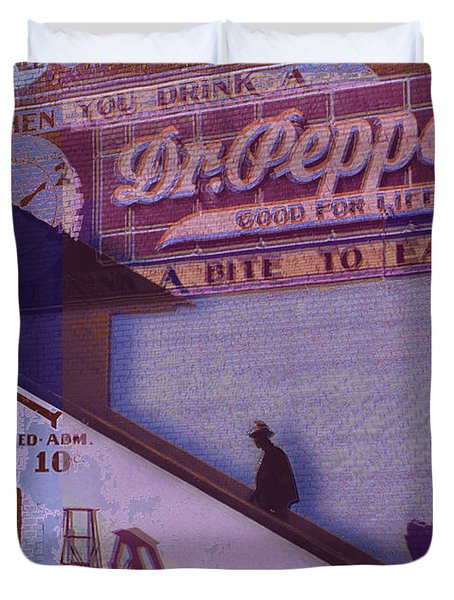 Dr Pepper Blues The Way It Was Duvet Cover by Tony Rubino