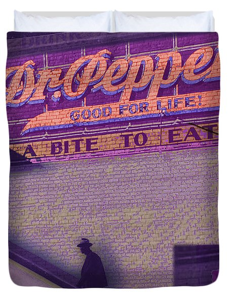 Dr Pepper Blues Duvet Cover by Tony Rubino