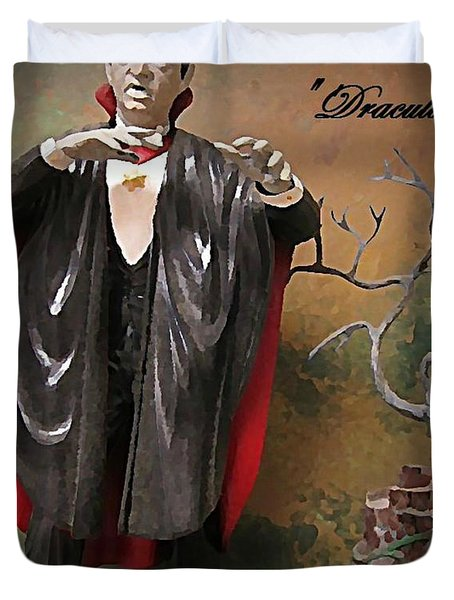 Dracula Model Kit Duvet Cover by John Malone