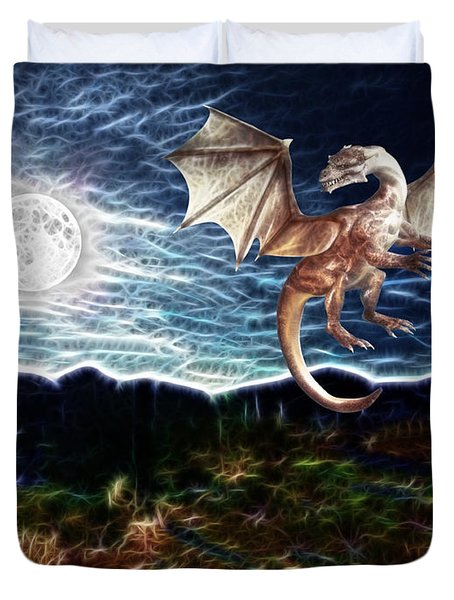 Dragon Night Duvet Cover by Methune Hively