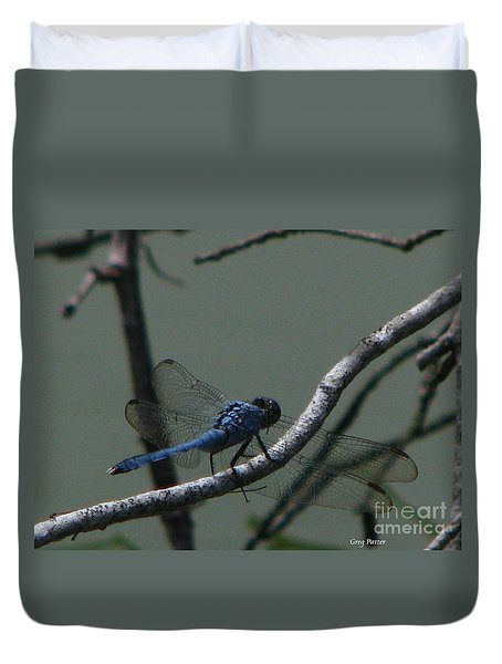Dragonfly Duvet Cover by Greg Patzer
