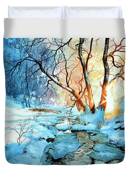 Drawn To The Sun Duvet Cover by Hanne Lore Koehler