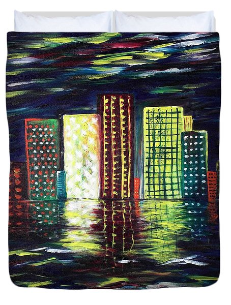 Dream City Duvet Cover by Anastasiya Malakhova