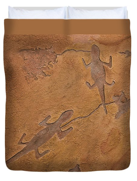 Dream Walkers Duvet Cover by Katie Fitzgerald