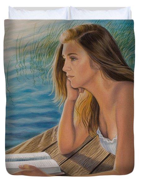 Dreamer Duvet Cover by Holly Kallie