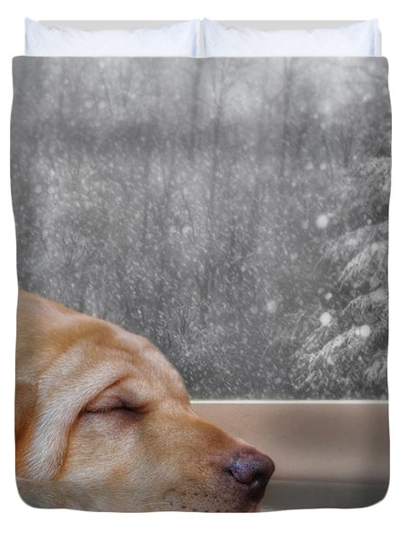 Dreamin' Of A White Christmas 2 Duvet Cover by Lori Deiter