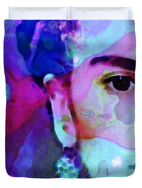 Dreaming of Frida - Art By Sharon Cummings Duvet Cover by Sharon Cummings