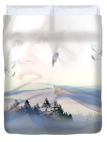 Dreams Soar Duvet Cover by Lisa Knechtel