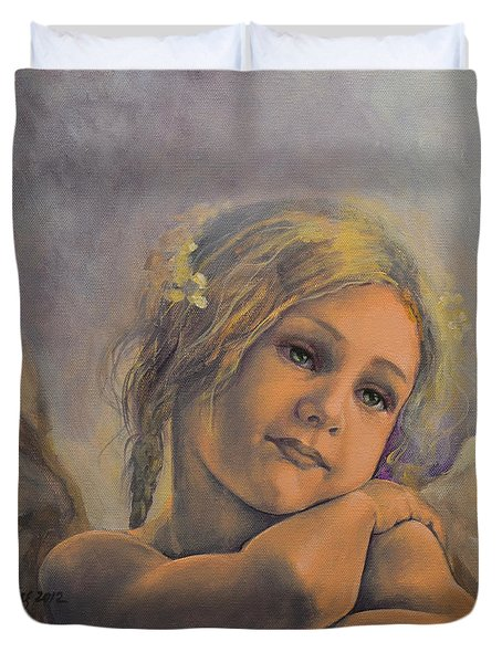 Dreamy Angel Duvet Cover by Dorina  Costras