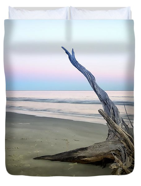 Driftwood At Dusk Duvet Cover by Phill Doherty