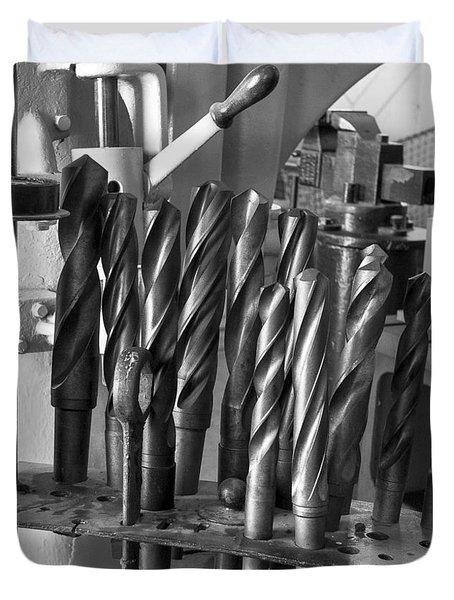 Drill Bits Duvet Cover by Steven Ralser