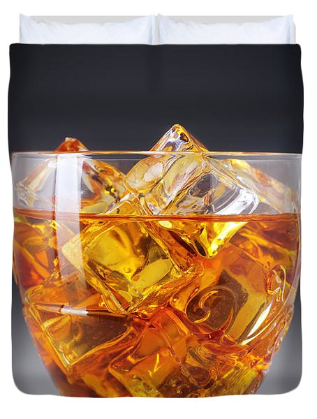 Drink On Ice Duvet Cover by Carlos Caetano