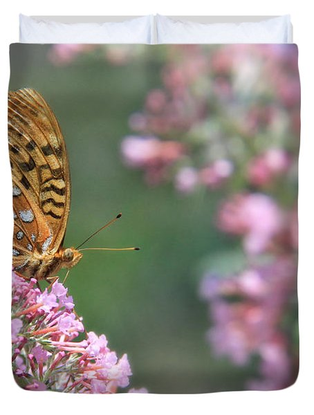 Drink Pink Duvet Cover by Lori Deiter