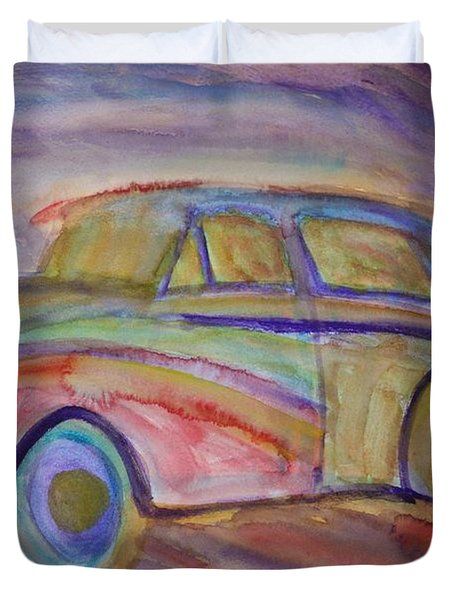 drive me home again Duvet Cover by Hilde Widerberg