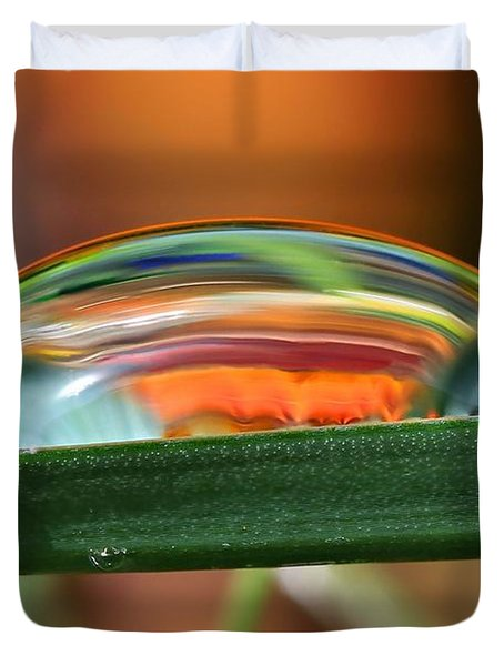 Drops Of Abstract I Duvet Cover by Gary Yost