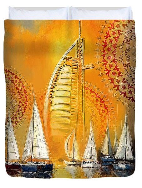 Dubai Symbolism Duvet Cover by Corporate Art Task Force