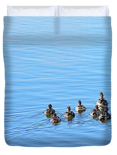 Ducklings Day Out Duvet Cover by Kaye Menner