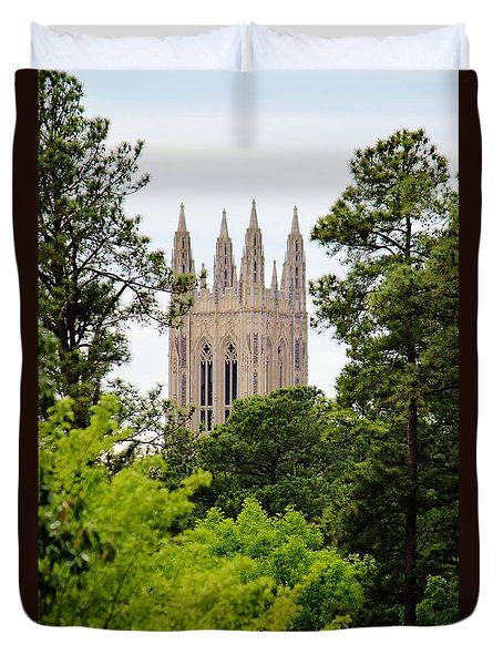 Duke Chapel Duvet Cover by Cynthia Guinn